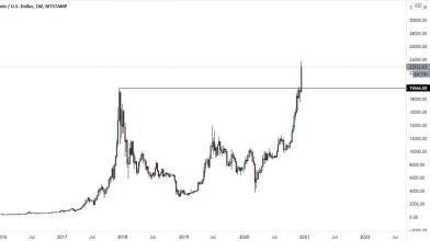 Bitcoin ai massimi storici, ora dove può arrivare il prezzo?